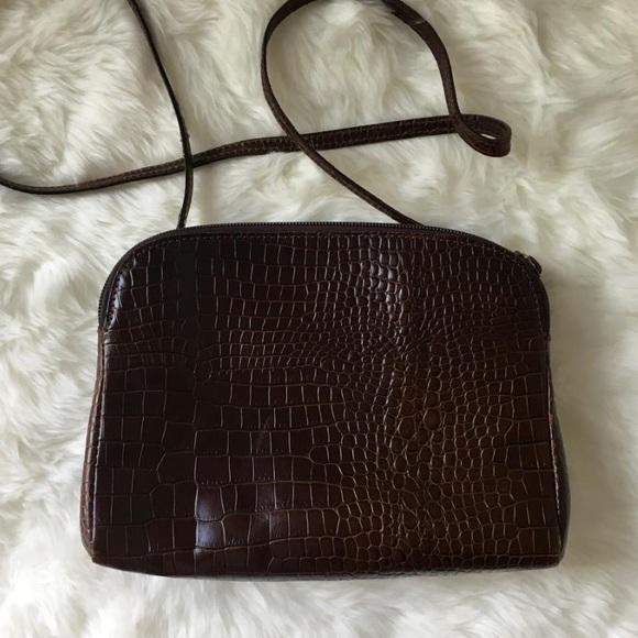 Furla Bags   Vintage Crossbody Crocodile Bag   Poshmark 6cb62556e7